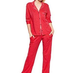 Victoria's Secret Sleepover Knit Pajama Red - NWT